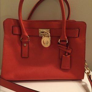 Michael Kors Pumpkin Hamilton Medium Bag Preowned
